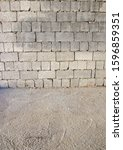 Cinder Block Brick Wall And...