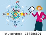 an attractive and friendly... | Shutterstock .eps vector #159686801