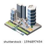 megapolis street scenery... | Shutterstock .eps vector #1596897454