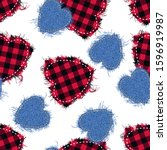 Hearts Made Of Fabric With...