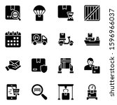 shipment delivery glyph icons... | Shutterstock .eps vector #1596966037