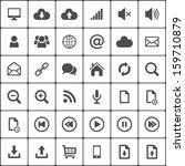 internet web icon pack on white....   Shutterstock .eps vector #159710879