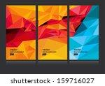 vector abstract background set... | Shutterstock .eps vector #159716027