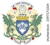 coat of arms of dundee is... | Shutterstock .eps vector #1597171324