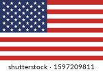 usa flag national american flat ... | Shutterstock .eps vector #1597209811