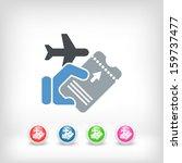 airline ticket   Shutterstock .eps vector #159737477