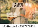 Small photo of Handwriting text writing English Language. Concept meaning third spoken native lang in world after Chinese and Spanish.