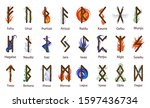 a large set of scandinavian...   Shutterstock . vector #1597436734