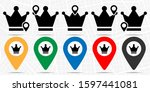 crown icon in location set.... | Shutterstock .eps vector #1597441081
