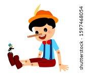 Pinocchio And Jiminy Cricket...