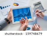 close up of businesspeople... | Shutterstock . vector #159748679