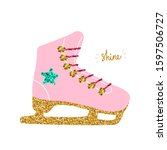 skates with sequins and glitter.... | Shutterstock .eps vector #1597506727