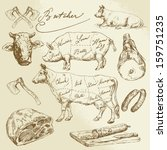 animal,bacon,beef,butcher,butchery,calf,cattle,chart,cook,cow,cuisine,cut,design,diagram,domestic