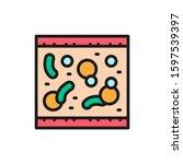 probiotic in blood  healthy...   Shutterstock .eps vector #1597539397