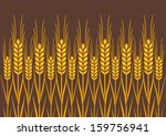 field of wheat  barley or rye... | Shutterstock .eps vector #159756941
