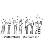 hand drawn sketch style of... | Shutterstock .eps vector #1597624114