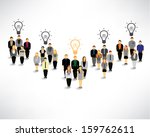 creative light bulb with many...   Shutterstock .eps vector #159762611