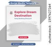 template social media post ... | Shutterstock .eps vector #1597627264