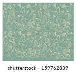 vegetables pattern over gray...   Shutterstock .eps vector #159762839