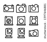 camera icon isolated sign...   Shutterstock .eps vector #1597646881