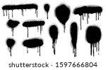 spray paint vector elements...   Shutterstock .eps vector #1597666804