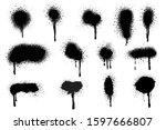 spray paint vector elements... | Shutterstock .eps vector #1597666807