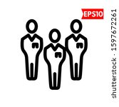 illustration of people flat icon   Shutterstock .eps vector #1597672261