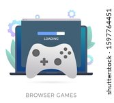browser games flat vector icon. ...