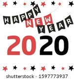 happy new year party  greeting... | Shutterstock .eps vector #1597773937