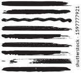 grunge brush vector. abstract... | Shutterstock .eps vector #1597777921
