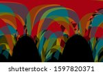 colorful abstract background... | Shutterstock . vector #1597820371