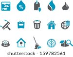 vector icons pack   blue series ... | Shutterstock .eps vector #159782561
