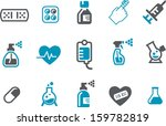 vector icons pack   blue series ...   Shutterstock .eps vector #159782819