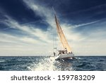 sailing ship yachts with white... | Shutterstock . vector #159783209