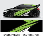 rally car decal graphic wrap... | Shutterstock .eps vector #1597880731
