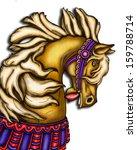 Carousel Horse Head Digital...