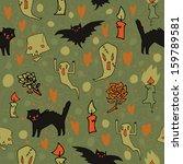halloween spooky background.... | Shutterstock .eps vector #159789581