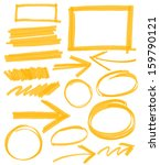 set of orange vector abstract... | Shutterstock .eps vector #159790121