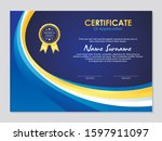 blue and gold certificate... | Shutterstock .eps vector #1597911097