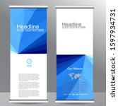 roll up business brochure flyer ... | Shutterstock .eps vector #1597934731
