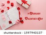 concept for valentines day.... | Shutterstock . vector #1597940137
