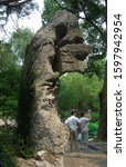Small photo of Suzhou, China - July 4 2009: A unique rock formation at the Humble Administrator's Garden
