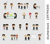 group cartoon business people... | Shutterstock .eps vector #159794345