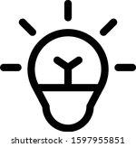 simple flat icon lamp design