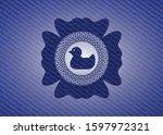 Rubber Duck Icon Inside Emblem...