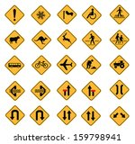 warning road signs  traffic...