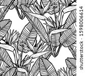 elegant seamless pattern with... | Shutterstock .eps vector #1598006614