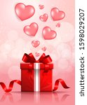 happy valentine's day festive... | Shutterstock .eps vector #1598029207