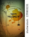 halloween greeting card  with... | Shutterstock .eps vector #159803231
