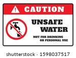 non potable water. do not drink ... | Shutterstock .eps vector #1598037517